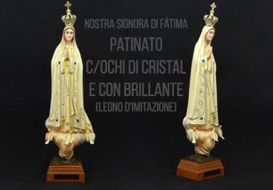 Nostra Signora di Fátima Patinato con Ochi di Cristal e con Brillante