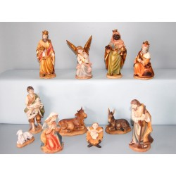Nativité Peint avec 11 pièces - 16 Cm