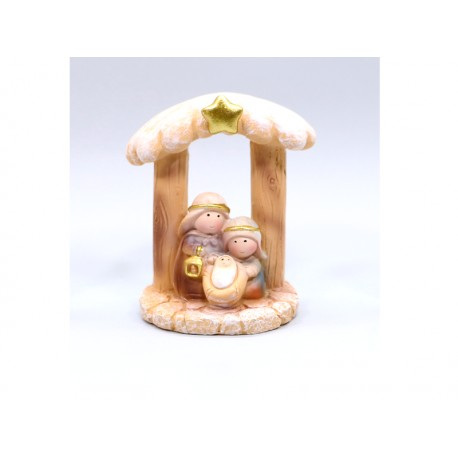 Nativity in Cabin - 7,5 Cm