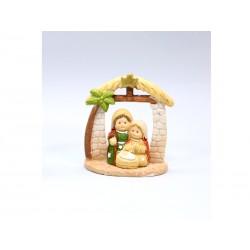 Nativité dans une Cabine et Palmier - 6 Cm