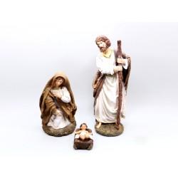 Nativité 3 Figures - 28 Cm