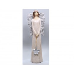 Angel with Hung Star - 25 Cm