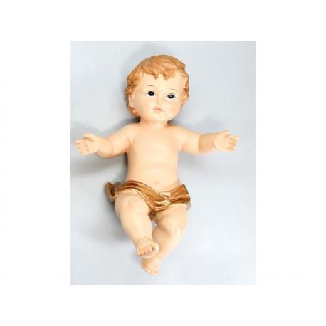 Boy Jesus with Golden Mantle - 20 Cm