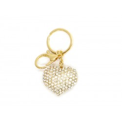 Golden Keychain with Heart