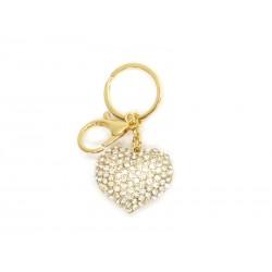 Porta-chaves dourado C/Coração