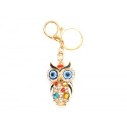 Golden Keychain with Owl