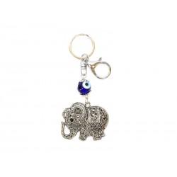 Llavero Elefante con Ojo de la Suerte