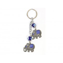 Keychain with Elephants with Eye of the Luck
