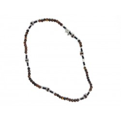 Pulseira/Terço em Pedras Semi-Preciosas