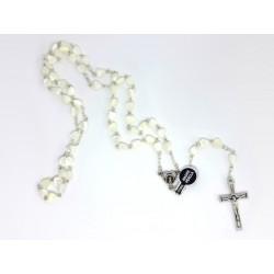 Chapelet avec des Perles en Nacre dans le Coeur