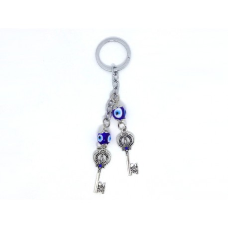 Keychain with Keys and Eye of the Luck