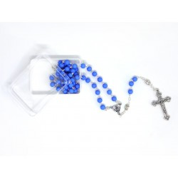 Rosary of Boy with Bills in Opaque Blue
