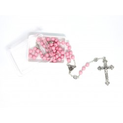 Rosary of  Girl with Bills in Opaque Rose