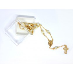 Gold Rosary and Pearl