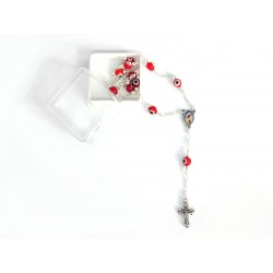 Silver Rosary with Eye of the Luck