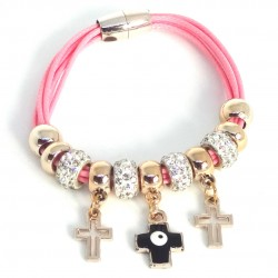 Bracelet with Crosses and Eye of the Luck