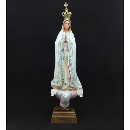 Nossa Senhora de Fátima Pintada C/Olhos Vidro e C/Brilhantes