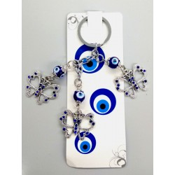 Keychain with eye and butterflies